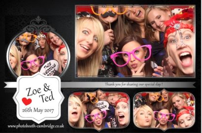 Zoe & Ted's Wedding Photo Booth at Quy Mill Hotel