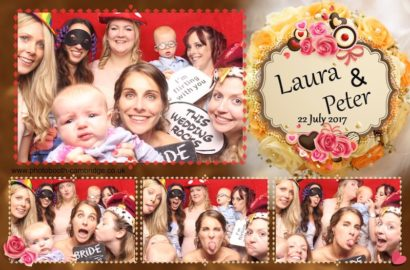 Garden Party Wedding Photo Booth